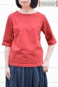 【再入荷しました!】Dana Faneuil ボートネック5分袖プルオーバー(全5色2サイズ)