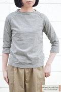 【再入荷しました!】【送料無料】Dana Faneuil プレミアムラ糸7分袖クルーネックプルオーバー(全2色2サイズ)
