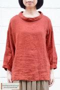 【送料無料】吉美の衣リネンツイル ロールカラープルオーバー(全2色)
