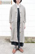 【SALE20%OFF】【送料無料】リネンキャンバス ロングコート(全2色)