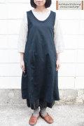 【送料無料】コットンバーバリーワッシャージャンパースカート(ネイビー)