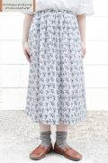 【送料無料】シングルガーゼフラワープリント ギャザースカート(全2色)