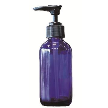 青色ガラスポンプ瓶 (容量120ml)