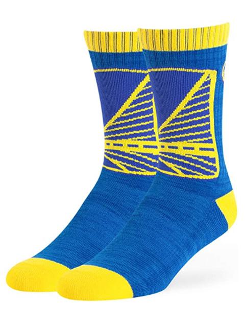 SS143 【メール便対応】 OTS NBA ゴールデンステ-ト・ウォリアーズ Golden State Warriors Ice Box クルーソックス 青黄色