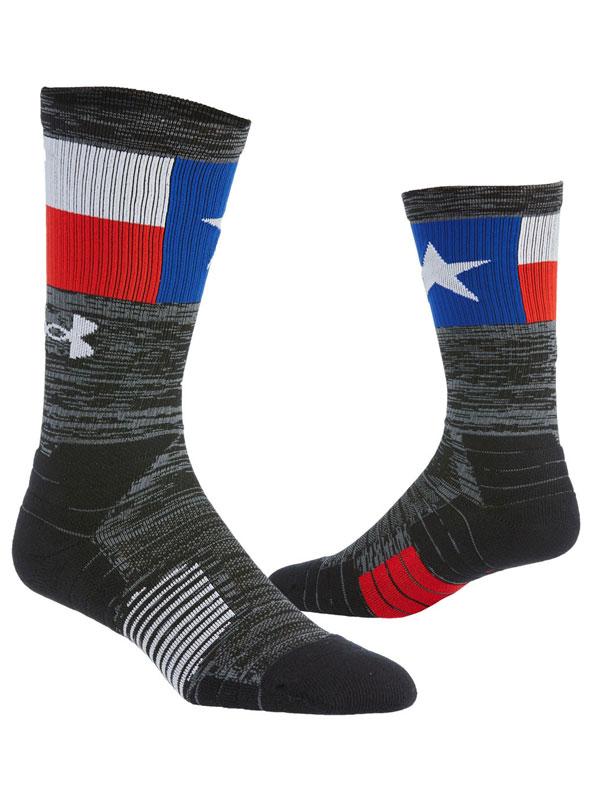 SS216 Under Armour Unrivaled Crew Socks アンダーアーマー クルーソックス 靴下 27~30cm 黒灰青白 【メール便対応】