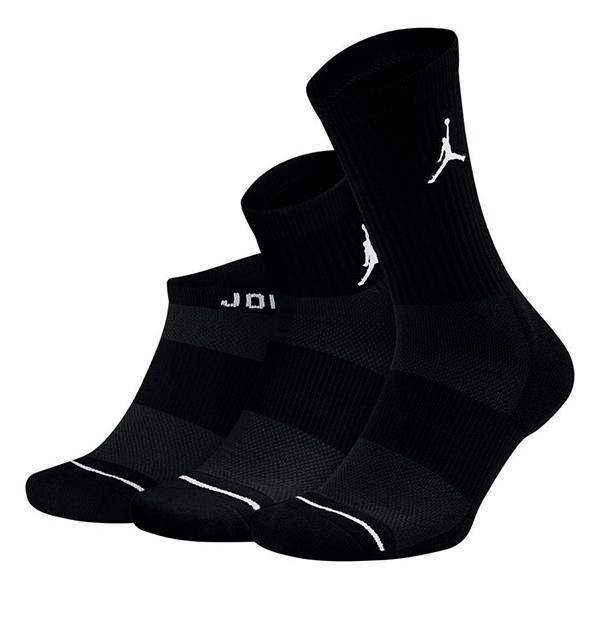 BK109  Jordan Jumpman 3 Pack Socks ジョーダン クルーソックス 3足セット 黒 Mサイズ
