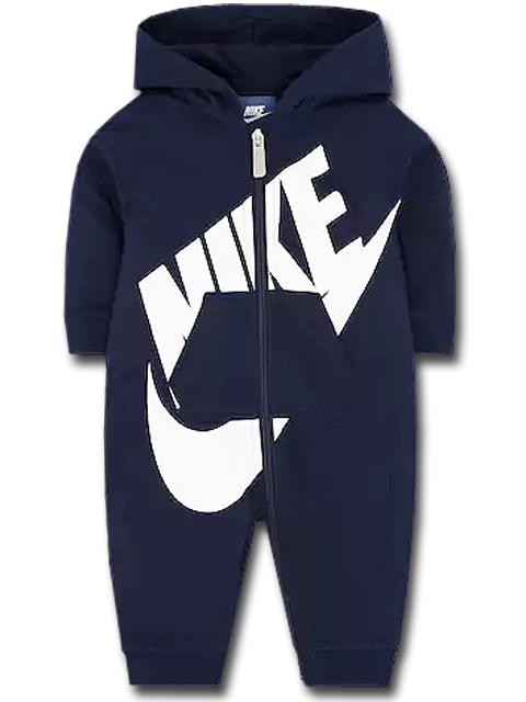 BT366 【メール便対応】 ベビー Nike Futura Infant Coverall ナイキ フード付き カバーオール 紺白
