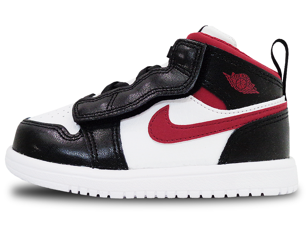 BB908 ベビー Jordan 1 Mid ALT (TD) ジョーダン シューズ 靴 スニーカー 白ジムレッド黒 14cm 15cm