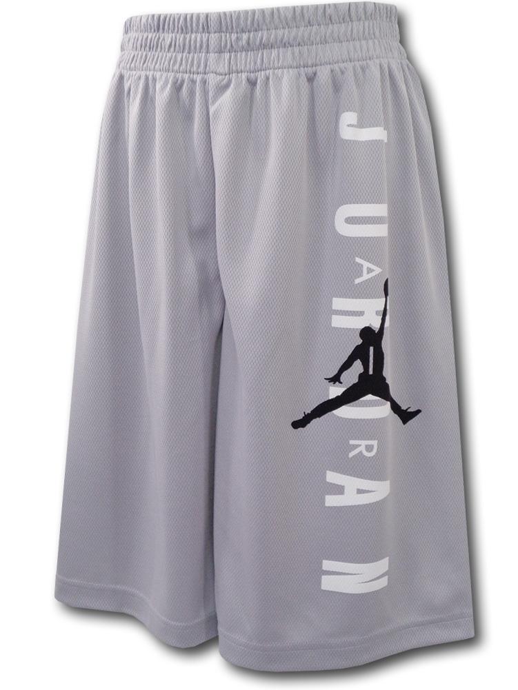 SK318 ジュニア Jordan Vertical Logo Shorts ジョーダン ショーツ キッズ バスパン 灰白黒 【メール便対応】