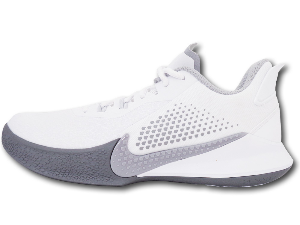"NS763 メンズ Nike Mamba Fury ナイキ ""コービー・ブライアント"" Kobe Bryant バスケットシューズ バッシュ 白ウルフグレー"