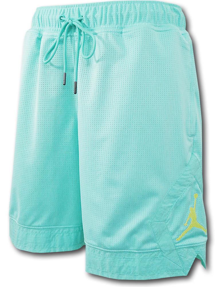 SJ927 メンズ ジョーダン バスケットボール メッシュショーツ Jordan Jumpman Diamond Shorts バスパン エメラルドグリーン