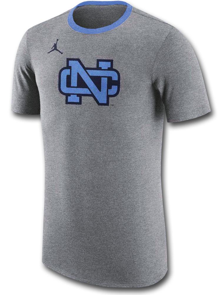 JT112 メンズ ジョーダン NCAA ノースカロライナ大学 ターヒールズ Tシャツ Jordan North Carolina Tar Heels T-Shirt 灰水色紺 【メール便対応】