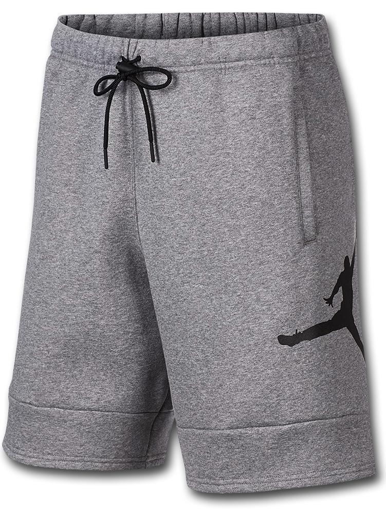 PJ890 メンズ ジョーダン スウェット ハーフパンツ Jordan Jumpman Air Fleece Shorts 灰黒