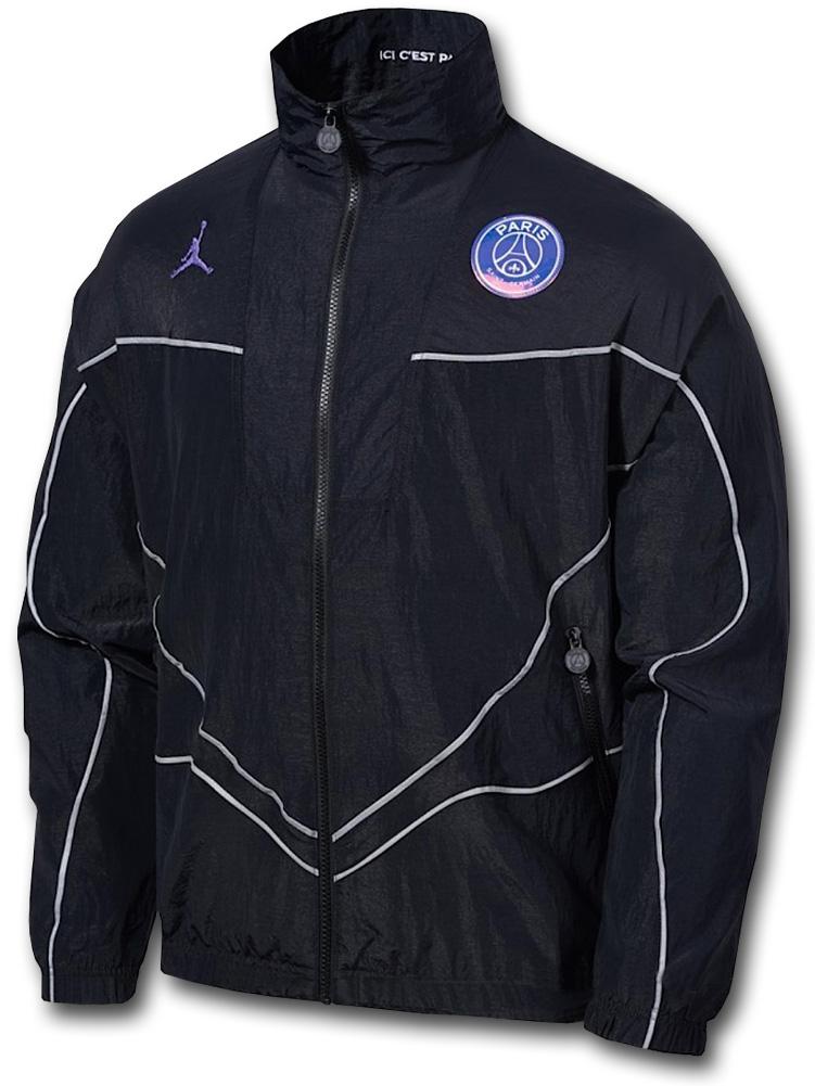 HJ071 メンズ ジョーダン パリ・サンジェルマン ナイロンジャケット Jordan x PSG Paris Saint-Germain Athem Jacket 黒紫