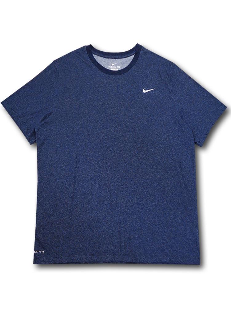 KL674 メンズ ナイキ Tシャツ Nike Dri-Fit T-Shirt 紺灰【ドライフィット】 【メール便対応】