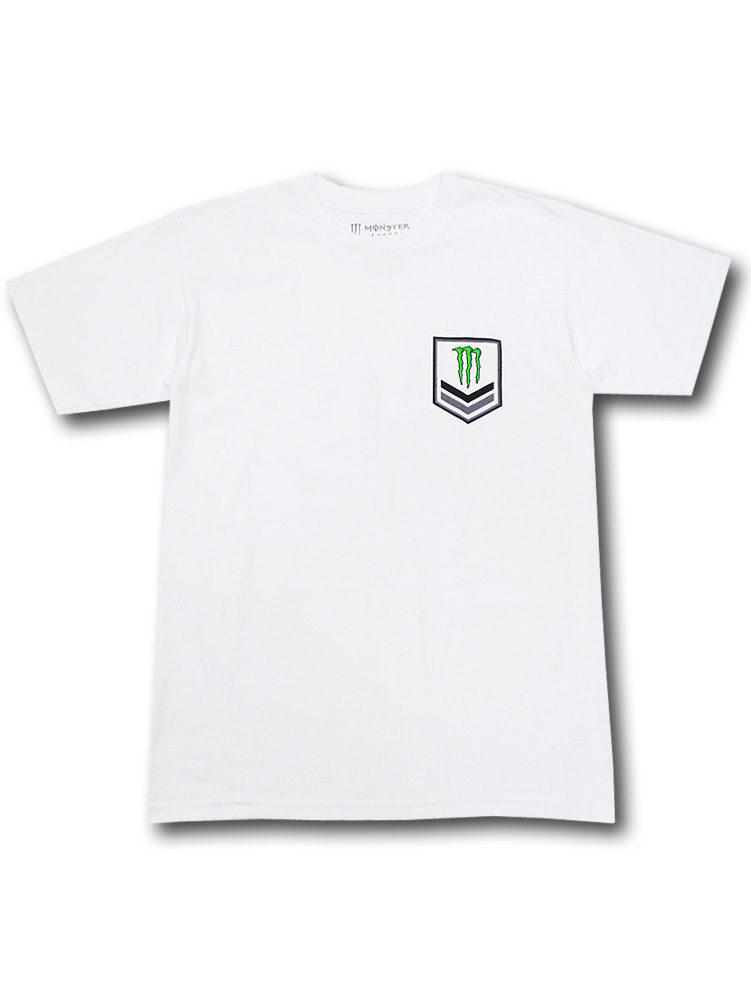 KO476 メンズ モンスターエナジー Tシャツ Monster Energy 白緑 【メール便対応】