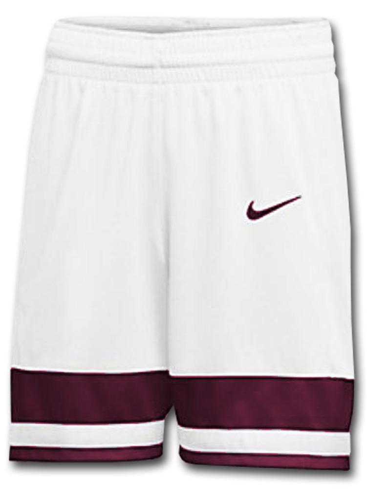 KL677 ナイキ バスケットボール ショーツ Nike Basketball Shorts バスパン 白ボルドー【ドライフィット】