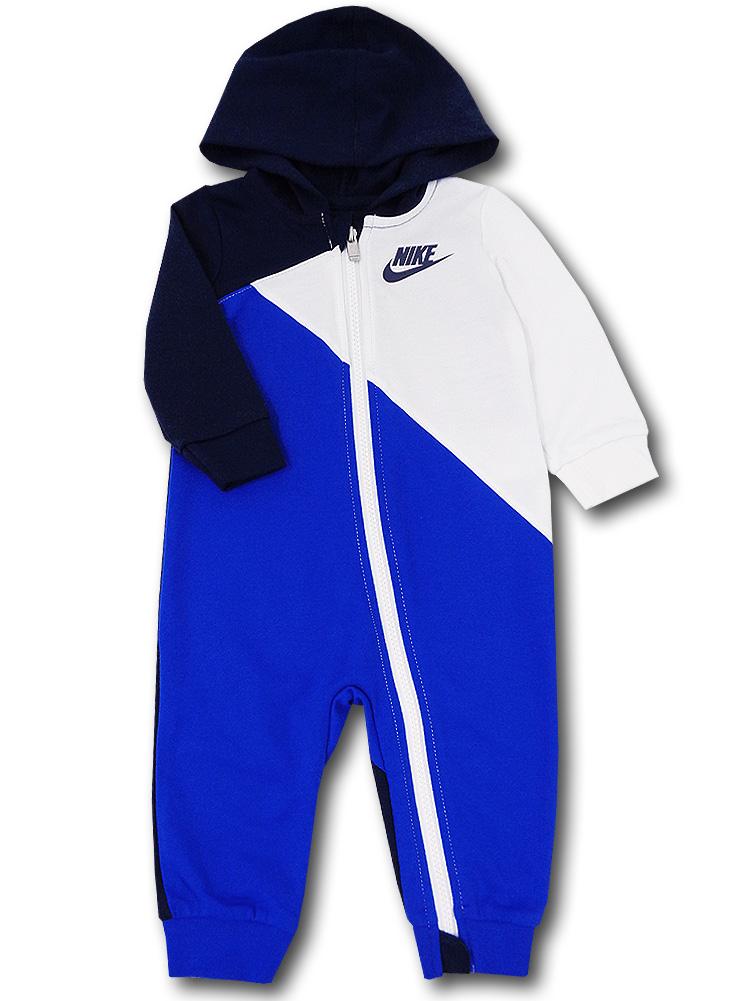 BY247 ベビー ナイキ フード付き カバーオール Nike Infant Coverall ベビー服 赤ちゃん 紺青白 【メール便対応】