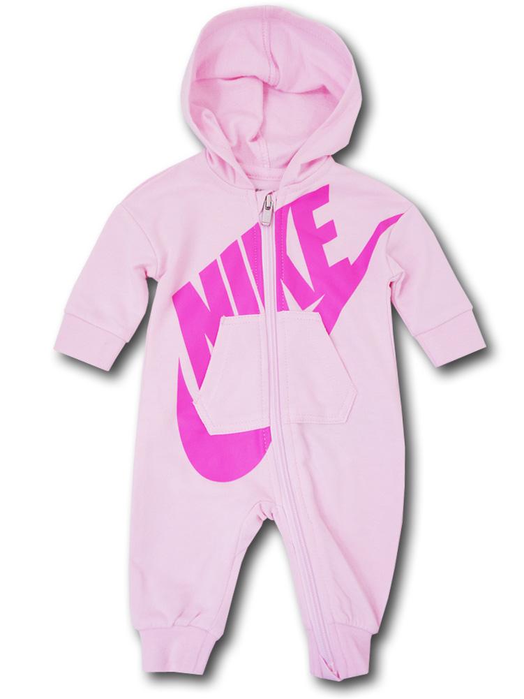 BT500 【メール便対応】 ベビー Nike Futura Infant Coverall ナイキ フード付き カバーオール ピンク