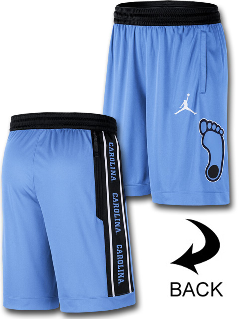 SJ880 メンズ Jordan NCAA ノースカロライナ大学 ターヒールズ North Carolina Tar Heels Shorts ジョーダン カレッジショーツ バスケットボールパンツ バスパン 水色黒白