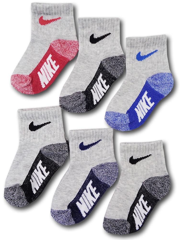 BA661 ベビー ナイキ ソックス 6足セット Nike Socks ベビー服 赤ちゃん 靴下 灰黒 【メール便対応】