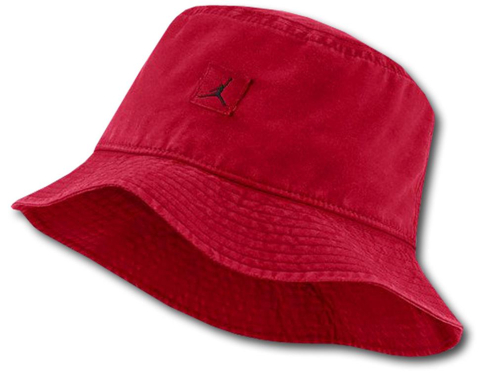 JC041 ジョーダン バケットハット Jordan JM Washed Bucket Hat 帽子 赤黒
