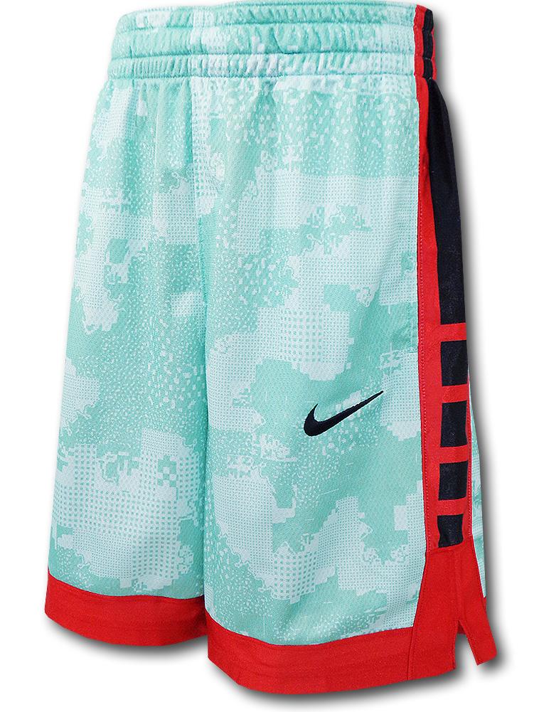SK477 ジュニア ナイキ バスケットボールショーツ Nike Youth Shorts キッズ バスパン エメラルド赤黒【ドライフィット】 【メール便対応】