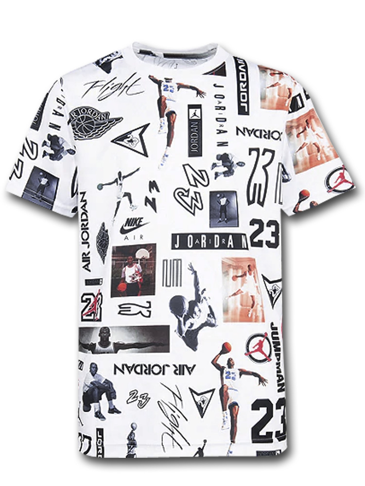 LL485 ジュニア ジョーダン トレーニング Tシャツ Jordan Stamped Logo Graphic T-Shirt キッズ ユース トップス 白黒 【メール便対応】