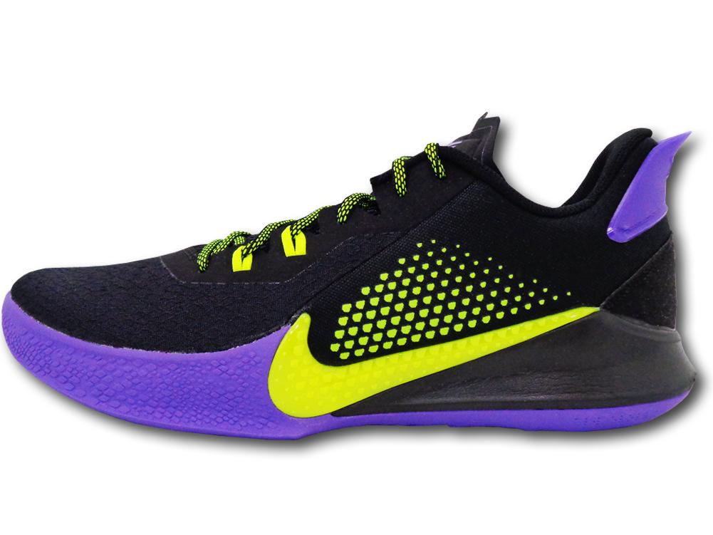 """NS777 メンズ Nike Mamba Fury """"Joker"""" ナイキ """"コービー・ブライアント"""" Kobe Bryant バスケットシューズ バッシュ 黒レモンヴェノム"""