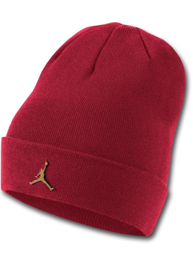 AJ107 Jordan Beanie ジョーダン ビーニー ニットキャップ ニット帽 赤メタリックゴールド 【メール便対応】