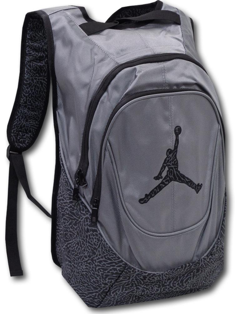 JB106 Jordan Jumpman Elephant Backpack ジョーダン エレファント柄 リュックサック バックパック ダークグレー黒