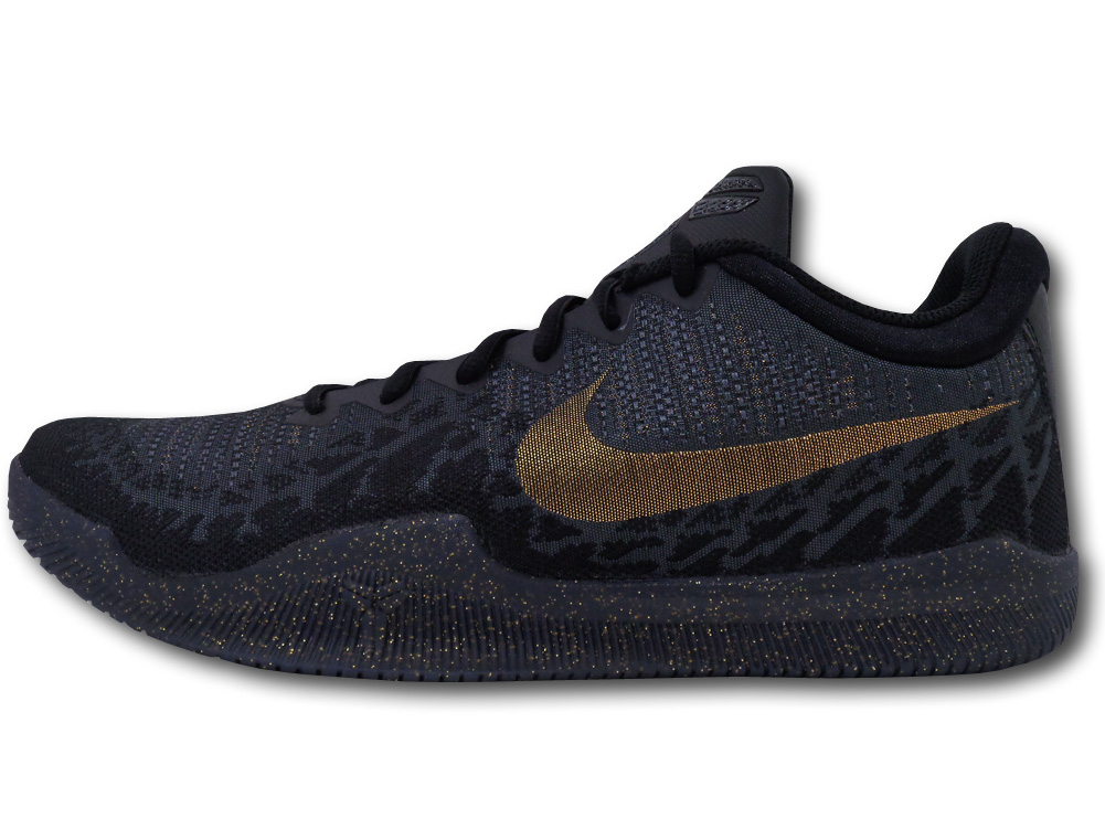 """NS748 メンズ Nike Kobe Mamba Rage ナイキ """"コービー・ブライアント"""" バスケットシューズ バッシュ 黒メタリックゴールド【箱なし】"""