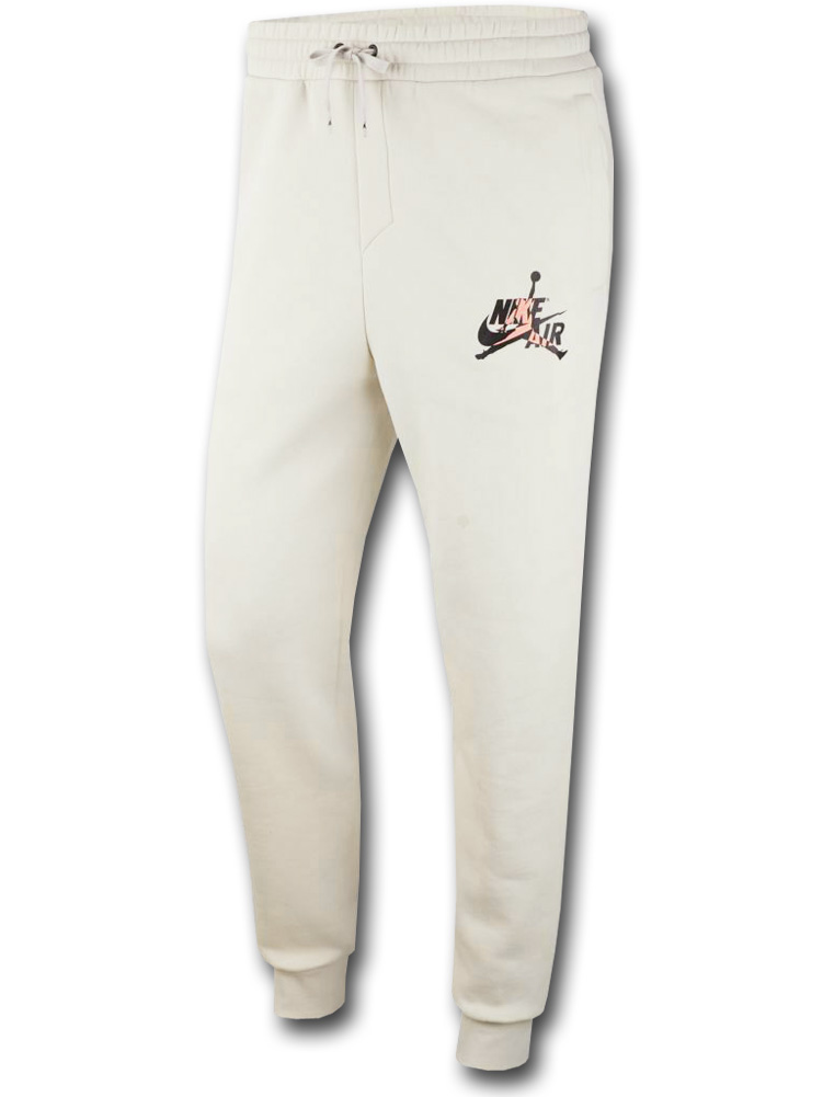 PJ796 Jordan Jumpman Classics Fleece Pants ジョーダン スウェットパンツ アイボリー黒