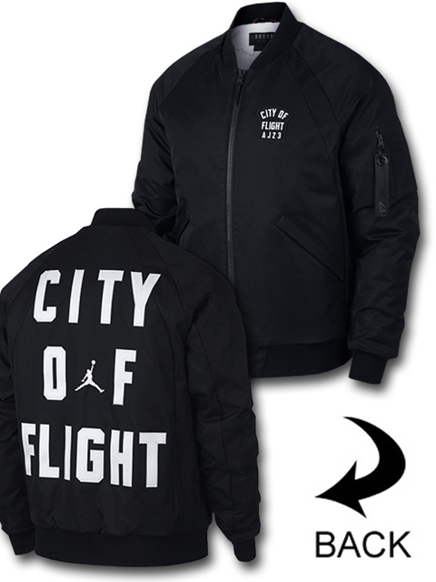 HJ713 Air Jordan Wings City of Flight MA-1 Jacket ジョーダン 中綿ジャケット 黒白