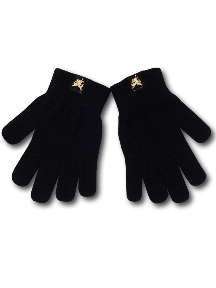 KC601 【メール便対応】キッズ Kids Jordan Jumpman Classics Gloves ジョーダン 手袋 黒メタリックゴールド