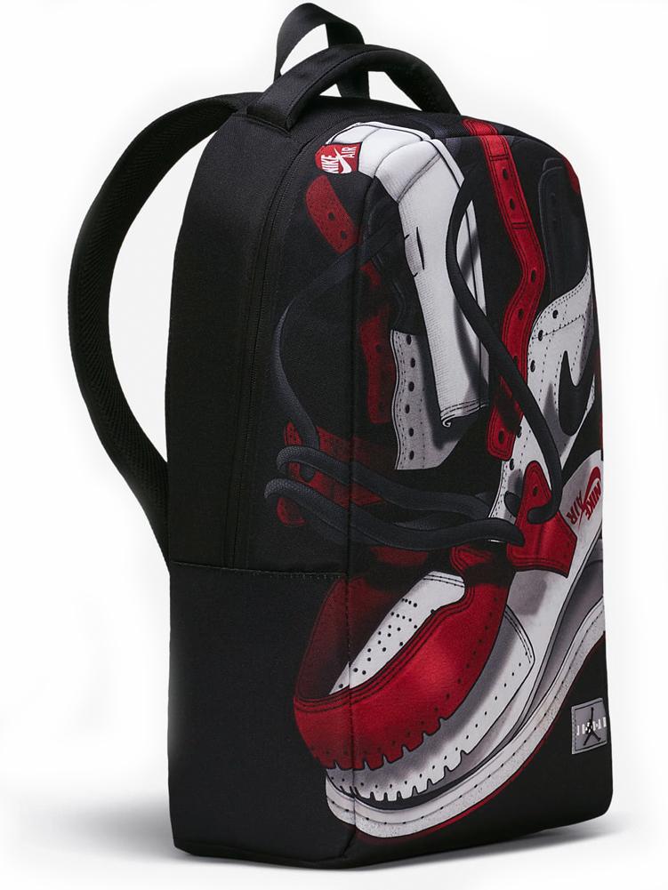 JB118 エアジョーダン グラフィック リュックサック Air Jordan 1 AJ1 Graphic Backpack バックパック 黒赤白