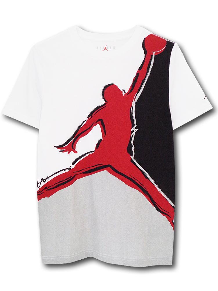 LL491 ジュニア ジョーダン Tシャツ Jordan Youth T-Shirt キッズ ユース トップス 白赤黒 【メール便対応】