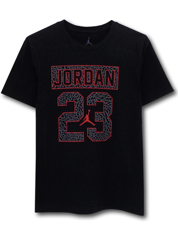 LL492 ジュニア ジョーダン Tシャツ Jordan Youth T-Shirt キッズ ユース トップス 黒赤ダークグレー 【メール便対応】