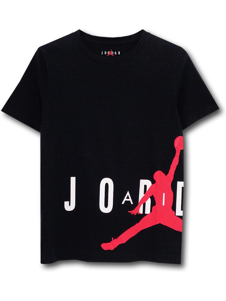 LL490 ジュニア ジョーダン Tシャツ Jordan Youth T-Shirt キッズ ユース トップス 黒白赤 【メール便対応】
