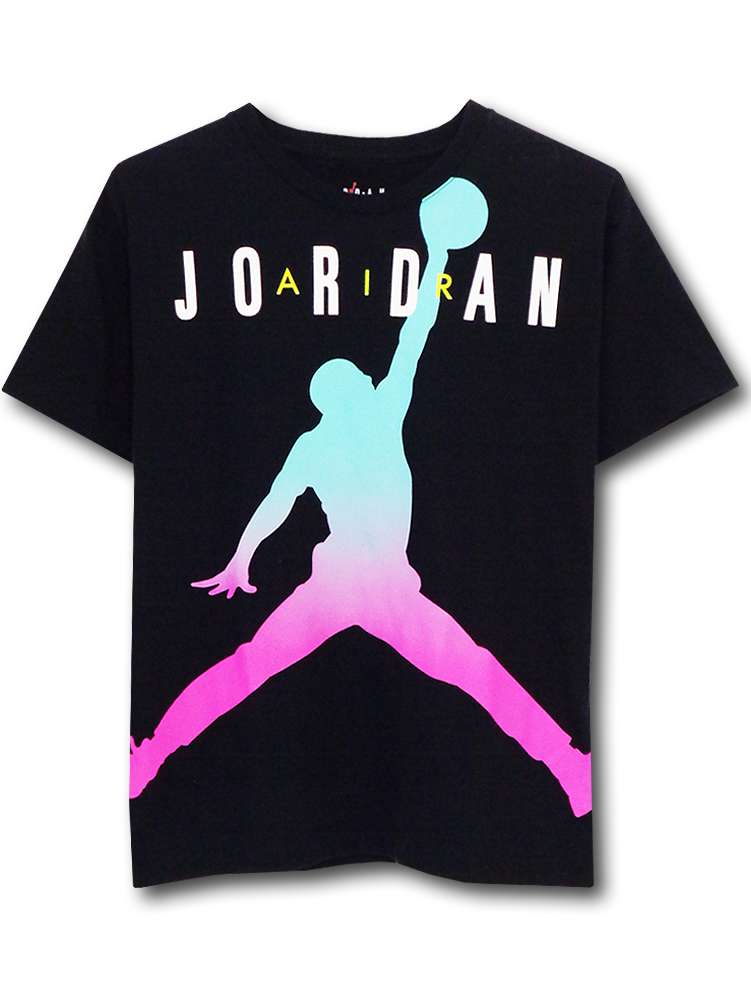 LL489 ジュニア ジョーダン Tシャツ Jordan Youth T-Shirt キッズ ユース トップス 黒白 【メール便対応】