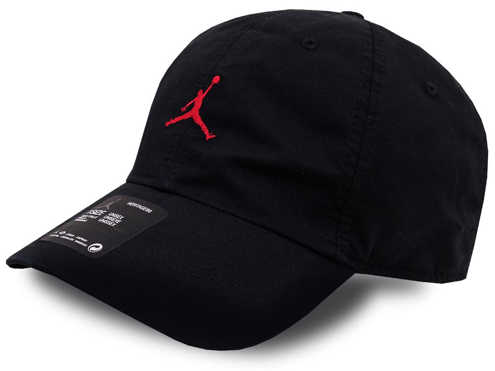JC011 ジョーダン ストラップバックキャップ Jordan Heritage86 Washed Adjustable Hat Cap 帽子 黒赤