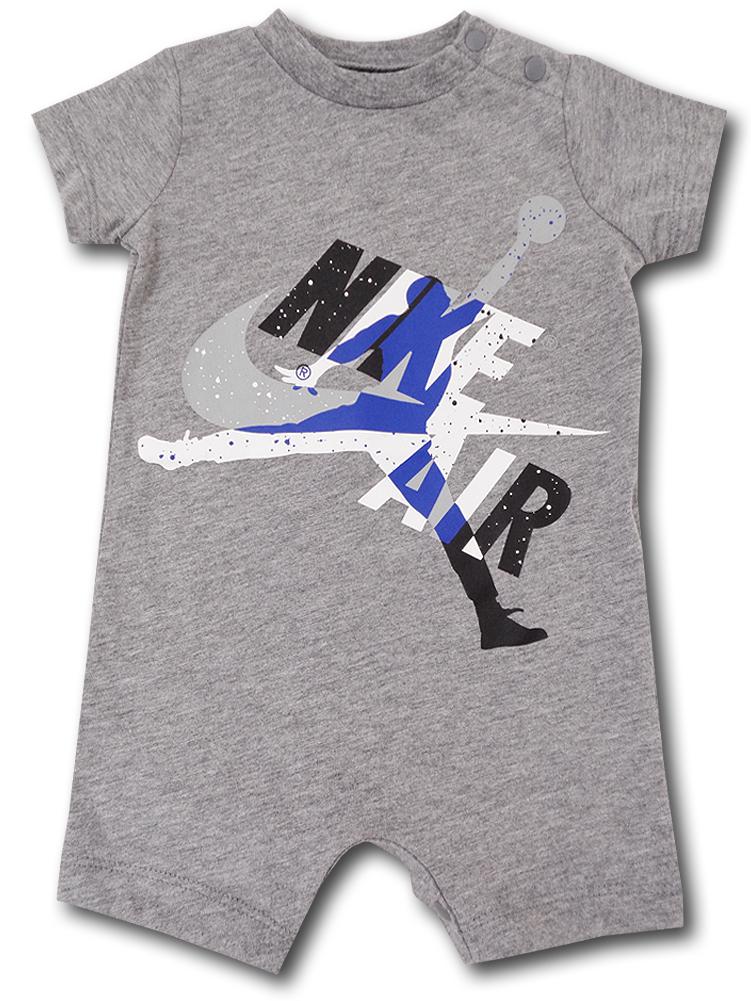 BT062 ベビー ジョーダン ロンパース Jordan Jumpman Classics Romper ベビー服 赤ちゃん 灰青黒 【メール便対応】