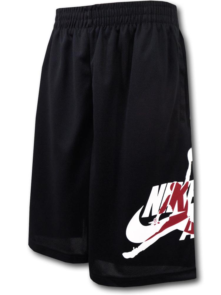 SK285 ジュニア Jordan Jumpman Classics Shorts ジョーダン バスケットボールショーツ キッズ バスパン 黒白赤 【メール便対応】