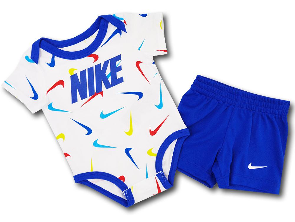 BY201 ベビー ナイキ ロンパース&パンツ セットアップ Nike Rompers Baby ベビー服 赤ちゃん 白青赤 【メール便対応】