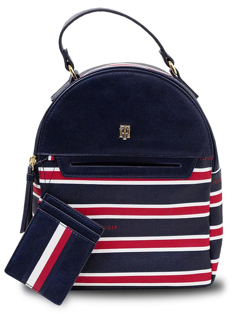 NP827 Tommy Hilfiger Backpack トミー ヒルフィガー リュックサック バックパック 紺赤白