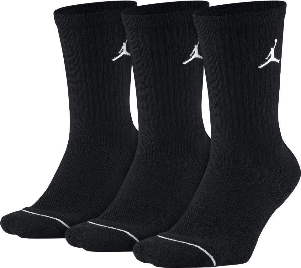 BK919 【メール便対応】 Jordan Jumpman 3 Pack Crew Socks ジョーダン ドライフィット クルーソックス 3足セット 黒  Mサイズ