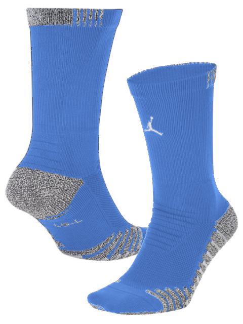 SX44 Jordan Vapor Crew Socks ジョーダン クルーソックス ミドル丈 靴下 水色白 30cm~33cm【ドライフィット】 【メール便対応】