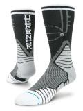 SS083 【メール便対応】 Stance Fusion Basketball Crew Socks スタンス バスケットボール クルーソックス 黒灰白