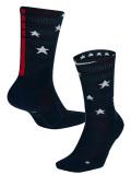 """SS107 【メール便対応】 Nike """"USA""""Elite Socks ナイキ エリート クルーソックス 紺赤白 【ドライフィット】"""