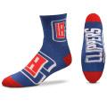 BK293 【メール便対応】 For Bare Feet NBA LA Clippers ロサンゼルス・クリッパーズ クォーター  バスケットボール ソックス 青赤 【23cm~26.5cm】
